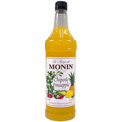 Monin Pet Chipolte Pineapple Syrup, 1-Liter. Case of 4