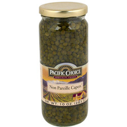 Pacific Choice Specialty 16 Ounce Nonpareil Capers in Glass Jar