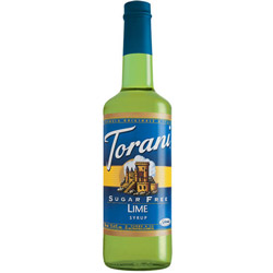 Torani® Sugar-Free Lime Drink Syrup, 750mL