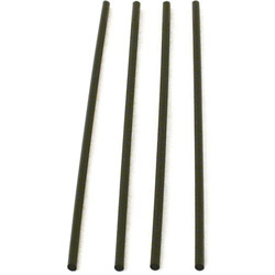 WNA Comet Slim Black Straws, 8""