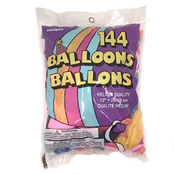 "Unique Industrials 5233 Assorted Color Helium Balloons, 12"" (SKU"