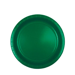 "Duni Disposable 8.75"" Paper Plates, Green, 12-50 Count Packages"