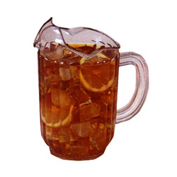 60 Ounce Clear Tuffex I Three-Lip Dexlux Pitcher. Sold Individually