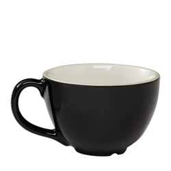 Espresso Supply Cremaware Cup Black 8 oz