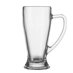 Bavarian 17 Ounce Handled Bar Glass. Six