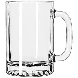 Libbey 5091 9.75 Ounce Tall Mug w/Starburst Bottom. Case of 12