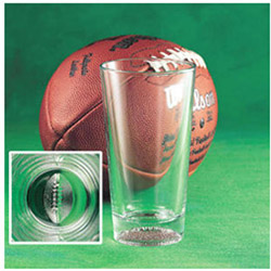 Pub Glass Football 16 Ounce. Case of 24