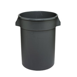 Continental Round Plastic Indoor Trash Can, 32 Gallon, Gray