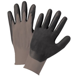 Anchor Nitrile Coated Gloves, Small, Gray/Black