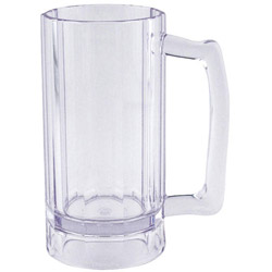 Cambro BWB16CW Clear Aliso Beer Mug, 16 Ounces. Case of 12