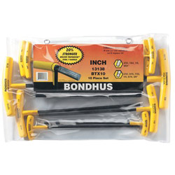 Bondhus Btx-10 10 Piece T-wrench Hex Set BallDriver