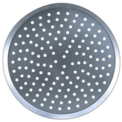 "American Metalcraft 7"" Perforated Uncoated Aluminum Pizza Pan"