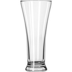 Libbey 1240HT 10 Ounce Heat Treated Flare Pilsner Glass. Case of 36