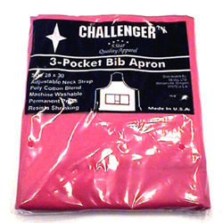 "Challenger 28"" x 30"" Red 3 Pocket Adjustable Apron"