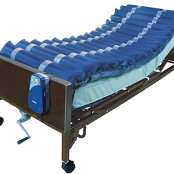 "Drive Medical 5"" Low Air Loss Mattress Systems, Blue"