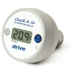Drive Medical O2 Analyzer with LCD Display, White