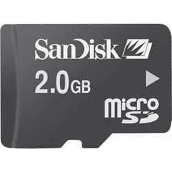 Sandisk Flash Memory Card (SD Adapter Included) - 2 GB - MicroSD