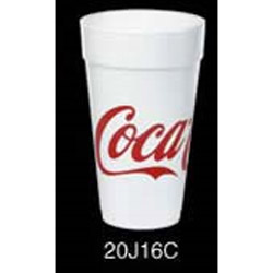 20J16 Coca-Cola Design 20 Ounce Foam Cups 20 bags per case.25 cups per bag.