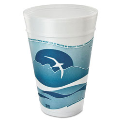 32TJ32 Teal Design 32 Ounce Foam Cups 20 bags per case.25 cups per bag.