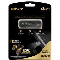 PNY Mini Attach&eacute; USB flash drive - 4 GB. Sold Individually