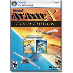 Microsoft Flight Simulator X Gold Edition Complete Package. Sold Individually
