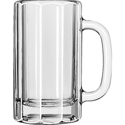 Libbey 5020 16 Ounce Paneled Mug Pint Glass. Case of 12
