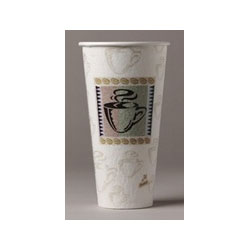 20 Oz Hot Paper Cups, Coffee Design, Pack of 500 20 Packs Per Case.25 Per Pack.