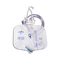 Medline Drainage Bag with Anti-Reflux Tower, 4 Liter