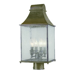 Dark Sky Revere 61317-06 4 Light Outdoor Post Lantern, Flemish