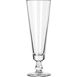 Libbey 6425 10 Ounce Fluted Pilsner Glass. Case of 24