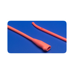 Kendall Curity Ultramer Coude Red Rubber Catheter, 16 Fr