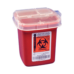 "Kendall Sharps Multi-Purpose Container 1/ 2"" Gallon with Rotor Lid"