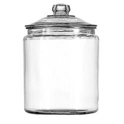 Anchor Hocking 2 Gallon Glass Jar with Cover, Each