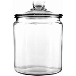Anchor Hocking Glass Jar with Cover, 1/2 Gallon