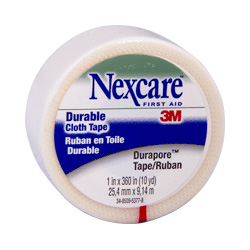 "Nexcare™ Durapore Cloth Tape, 1"" x 10 Yards, Carded"