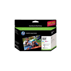 HP 564 Series Photo Value Pack - Print Cartridge / Paper Kit