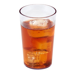 9.5 Oz Hot/Cold Plastic Tumblers, Clear, Pack of 72 72 Per Case..