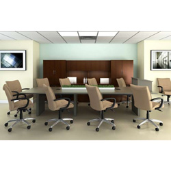 "ABCO Office Furniture C RT 46120 Conference Table - Rectangle - 10 ft x 46"" - Wild Cherry"
