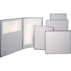 ABCO Office Furniture OP Series Full Plexiglas Panel - Plexiglas - Gray