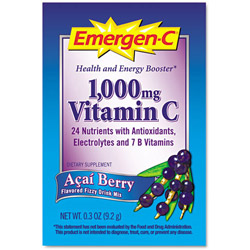 Emergen C and reg Immune Defense Drink Mix Acai Berry Single Pack Pack of 50 Pack of 50