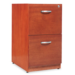 "Alera Cherry Verona Veneer Series Two-Drawer Pedestal File, 16""w x22""d x 28""h"