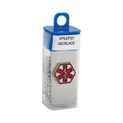 Apex Medical Corp. Epilepsy Necklace In Vial, Stainless Steel
