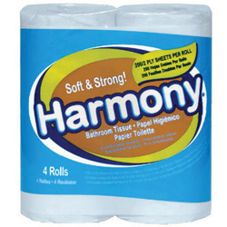 Atlas Paper Mills Harmony Toilet Tissue, 2-Ply, White, 76 Sheets/Roll
