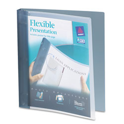 "Avery Flexi-View 1"" View Binder, Gray"