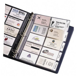 "Avery Business Card Pages, Tabbed, Holds 100 2""x3 1/2"" Cds., Clear"