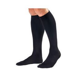 Biersdorf Extra Large, Black Men's Dressing Socks, 8-15 mm Hg