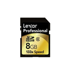 Lexar Professional - Flash Memory Card ( Adapter Included ) - 8 Gb - Class 6 - 133x - Sdhc. Sold Individually Picture