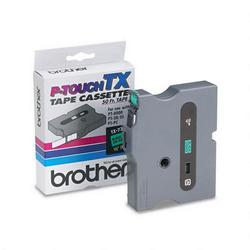 1/2in tape for Brother PT 30/35/8000(XL) PT PC black on green TX7311in