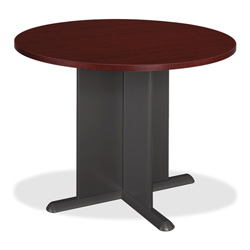 "Bush TB36742A Conference Table - Round - 41.38"" x 29.8"" - PVC"