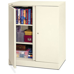 Basyx by Hon Easy-to-Assemble Storage Cabinet, 36w x 18d x 42-3/4h, Light Gray